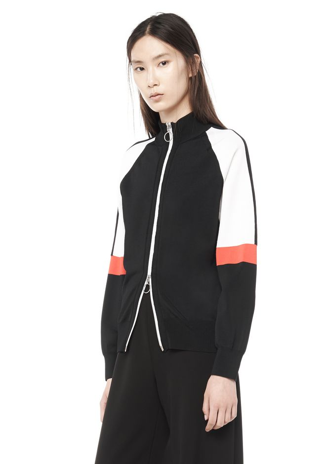T by ALEXANDER WANG t-by-alexander-wang-sale JERSEY KNIT TRACK JACKET