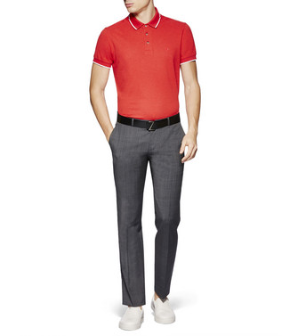 ZZEGNA: Short-Sleeved Polo Red - 37830567LG
