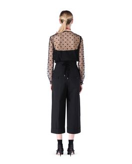 REDValentino Polka dot embroidered tulle top