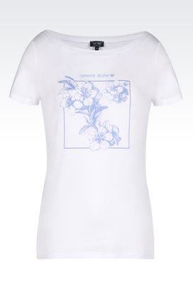 Armani Print t-shirts Women pima cotton t-shirt