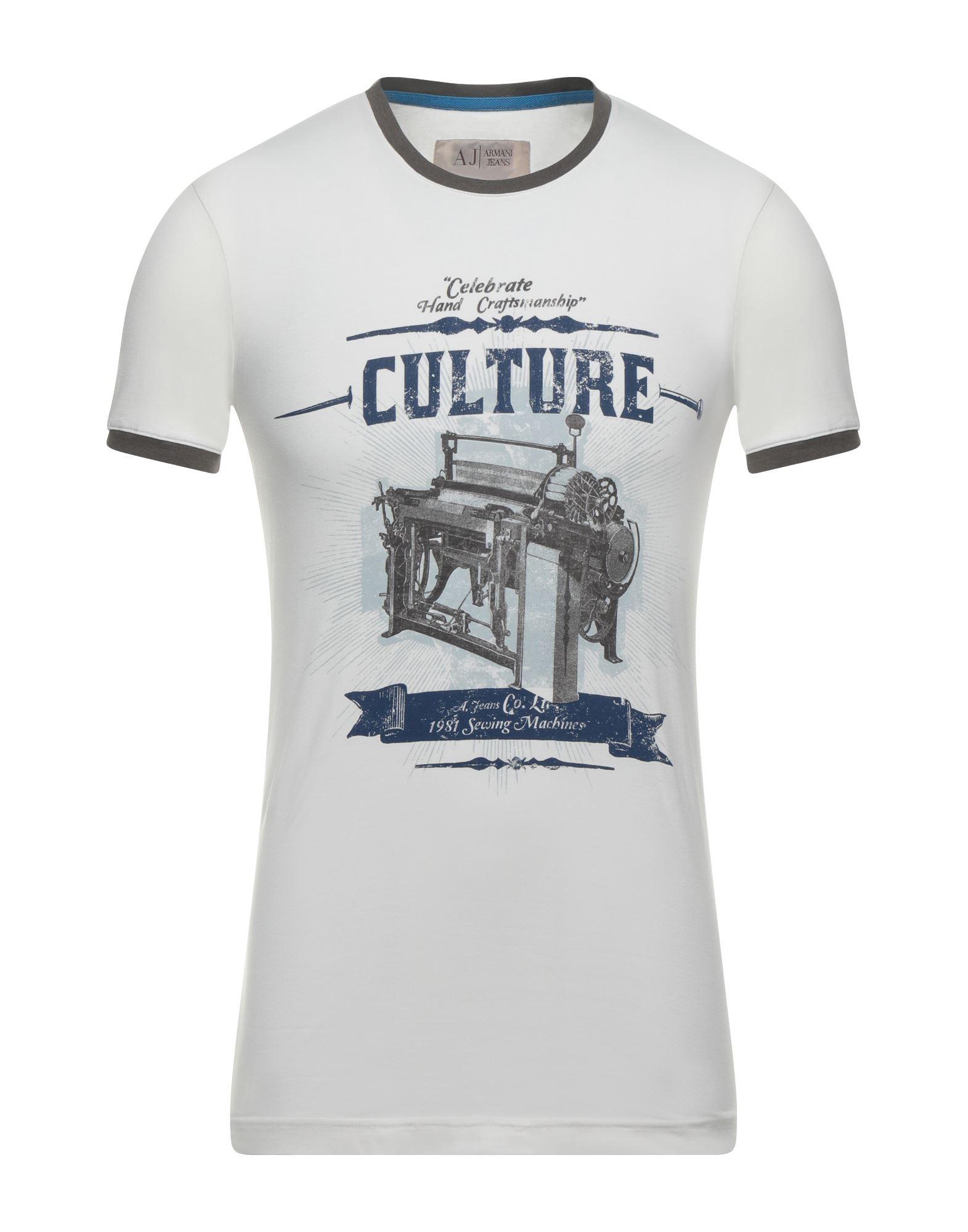 ARMANI JEANS Herren T-shirts Farbe Elfenbein Größe 4