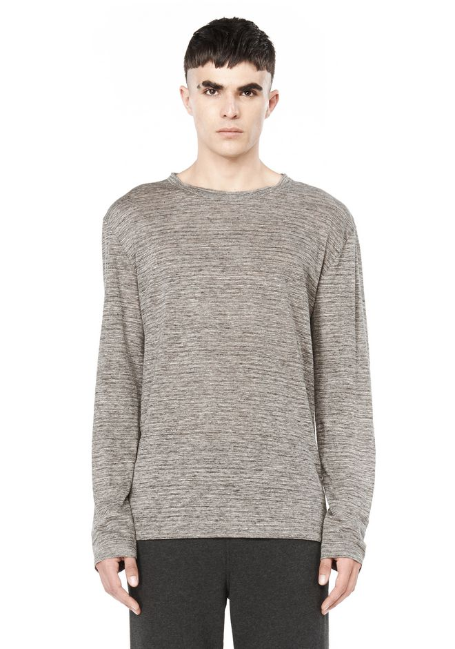 T by ALEXANDER WANG TOPS Men LONG SLEEVE TEE