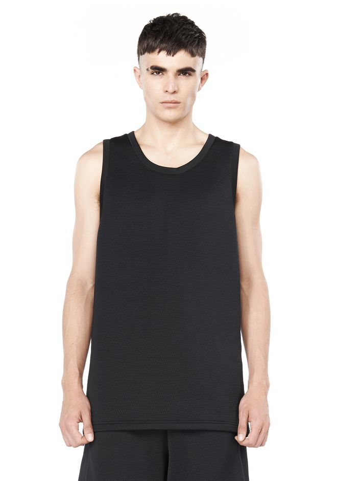 T by ALEXANDER WANG TOPS Men QUILTED JACQUARD BASKETBALL TANK