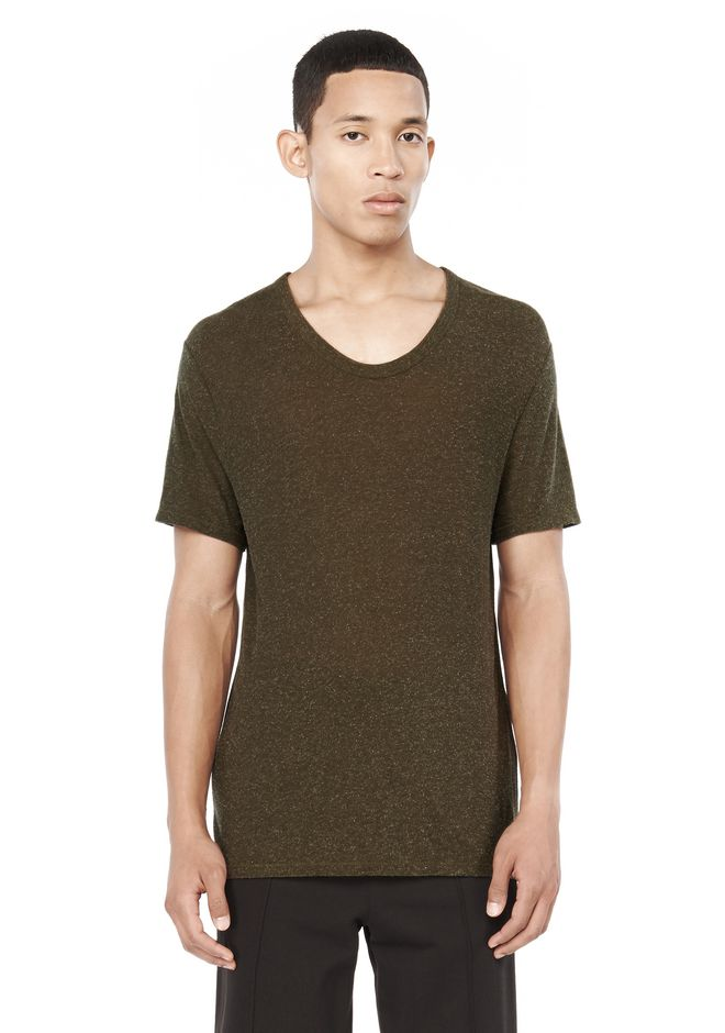 T by ALEXANDER WANG TOPS SLUB RAYON SILK LOW NECK TEE