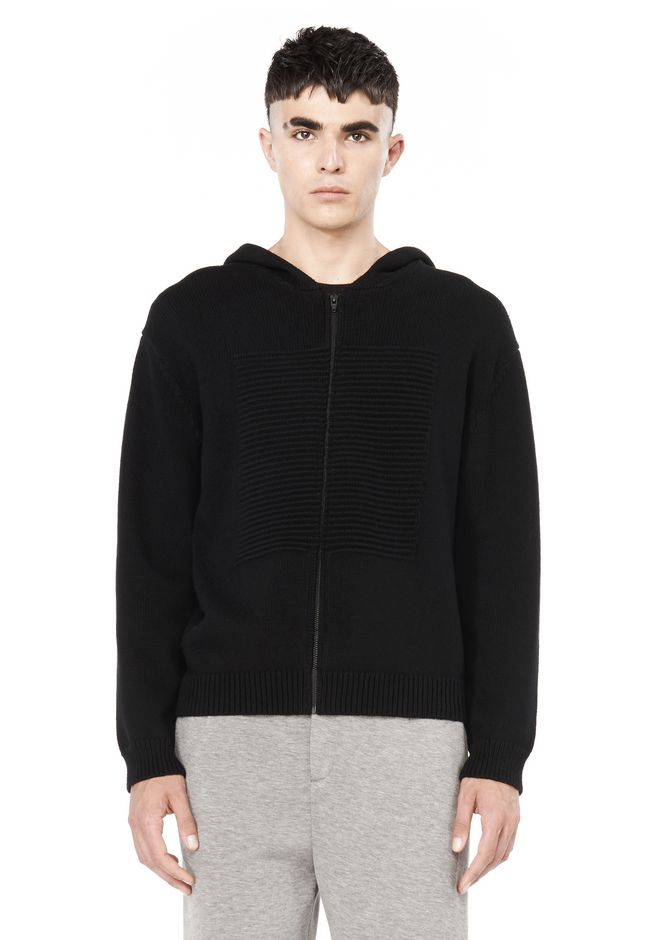 T by ALEXANDER WANG TOPS Men HOODIE WITH OTTOMAN SQUARE