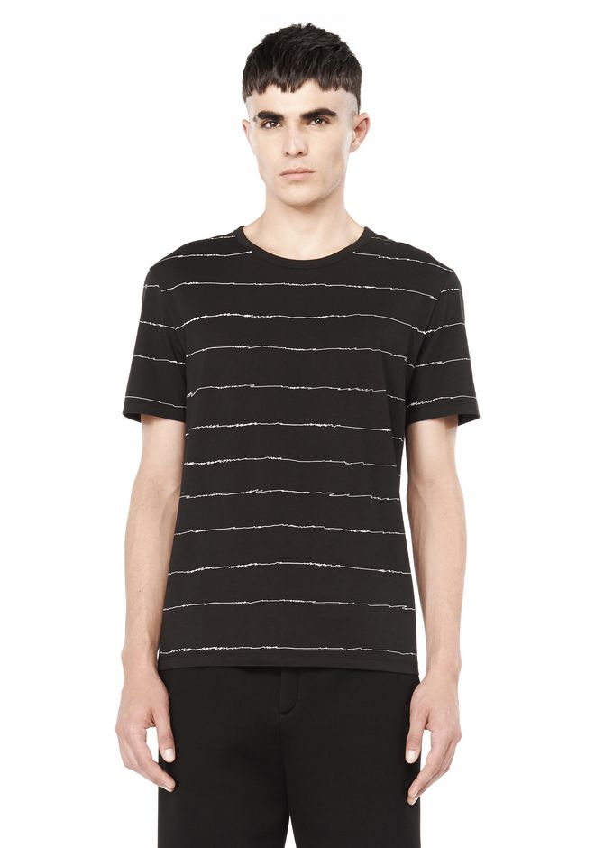 T by ALEXANDER WANG TOPS Men PRINTED SCRIBBLE TEE SHIRT