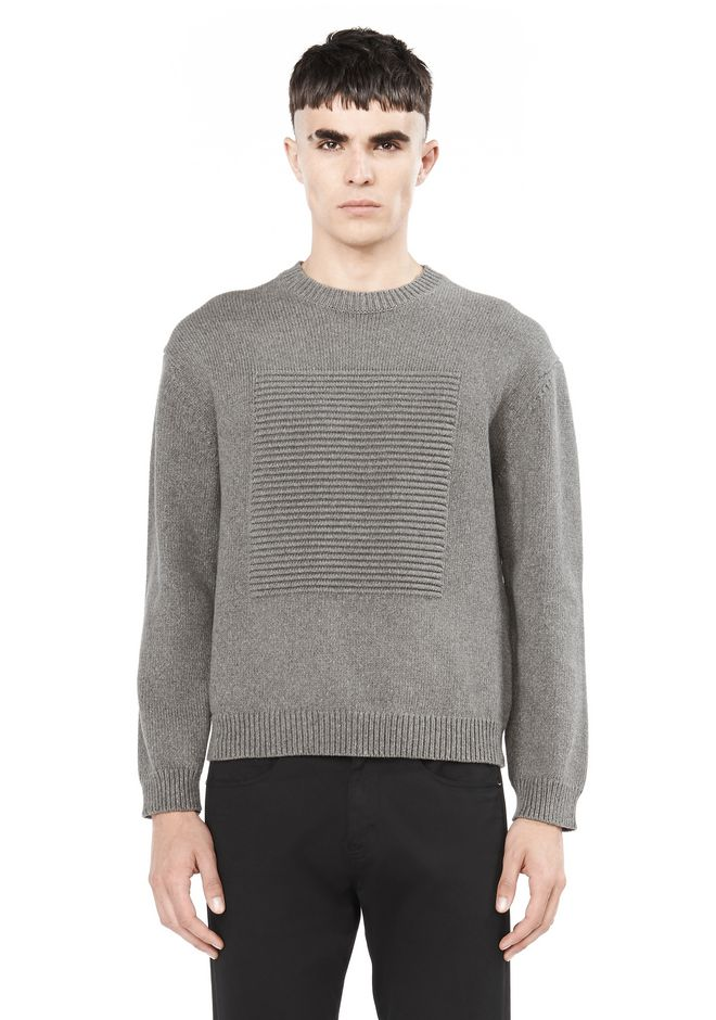 T by ALEXANDER WANG TOPS Men PULLOVER WITH OTTOMAN SQUARE