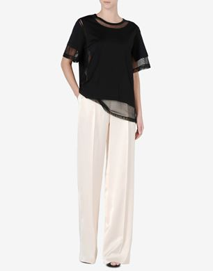 Maison Margiela Tulle and cotton jersey T-shirt