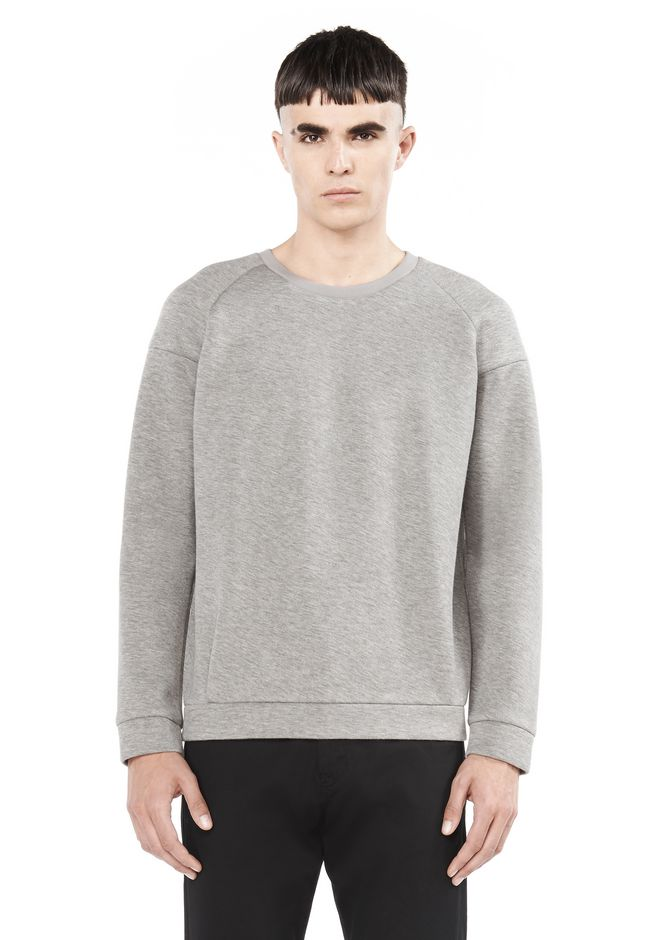 T by ALEXANDER WANG TOPS Men SCUBA SWEATSHIRT
