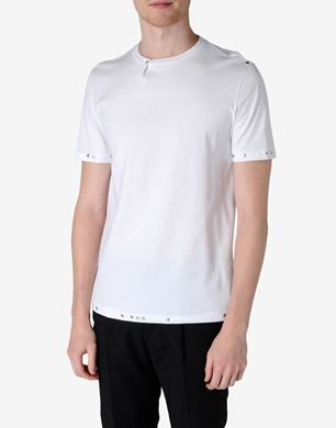 Cotton jersey T-shirt with studs