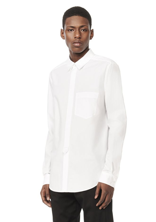 ALEXANDER WANG Shirts PLACKET TAB COLLARED LONG SLEEVE SHIRT