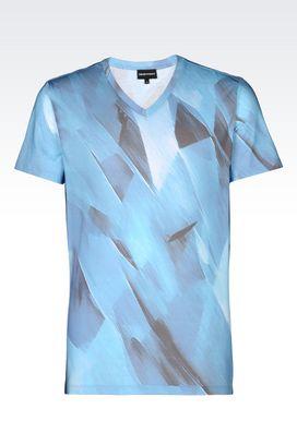 Armani Short-sleeve t-shirts Men runway jersey t-shirt