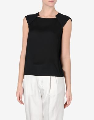 Maison Margiela Sleeveless top with shoulder pleating detail