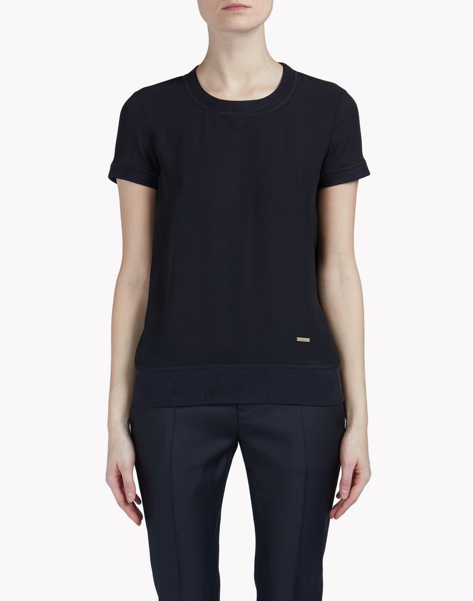 silk t-shirt top wear Woman Dsquared2