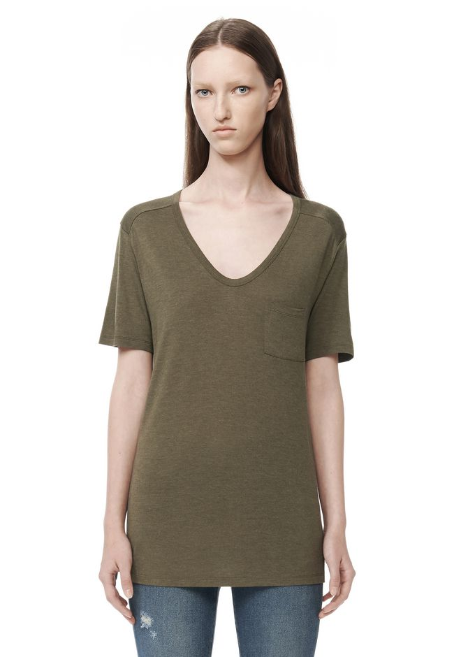 T by ALEXANDER WANG t-by-alexander-wang-sale CLASSIC TEE WITH POCKET
