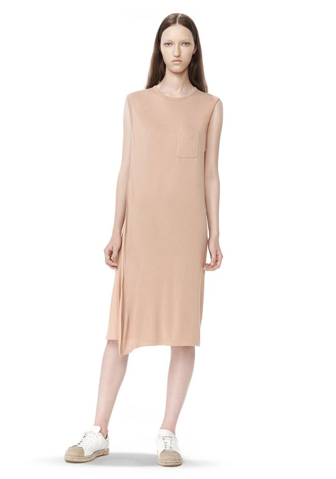 T by ALEXANDER WANG t-by-alexander-wang-sale CLASSIC OVERLAP DRESS WITH POCKET