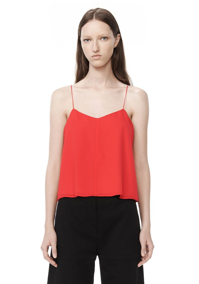 T by ALEXANDER WANG t-by-alexander-wang-sale SILK GEORGETTE & CDC CAMISOLE