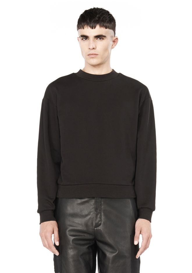 T by ALEXANDER WANG TOPS Men FLEECE BACKED SWEATSHIRT