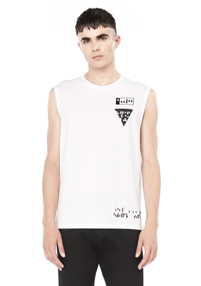 ALEXANDER WANG Short sleeve t-shirts MIXED MEDIA TANK