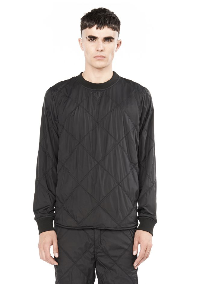 DIAMOND QUILTED PULLOVER