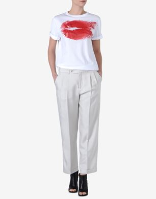 Maison Margiela Cotton jersey T-shirt with 'Lips' print