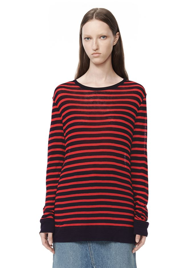 T by ALEXANDER WANG t-by-alexander-wang-sale STRIPE LINEN LONG SLEEVE