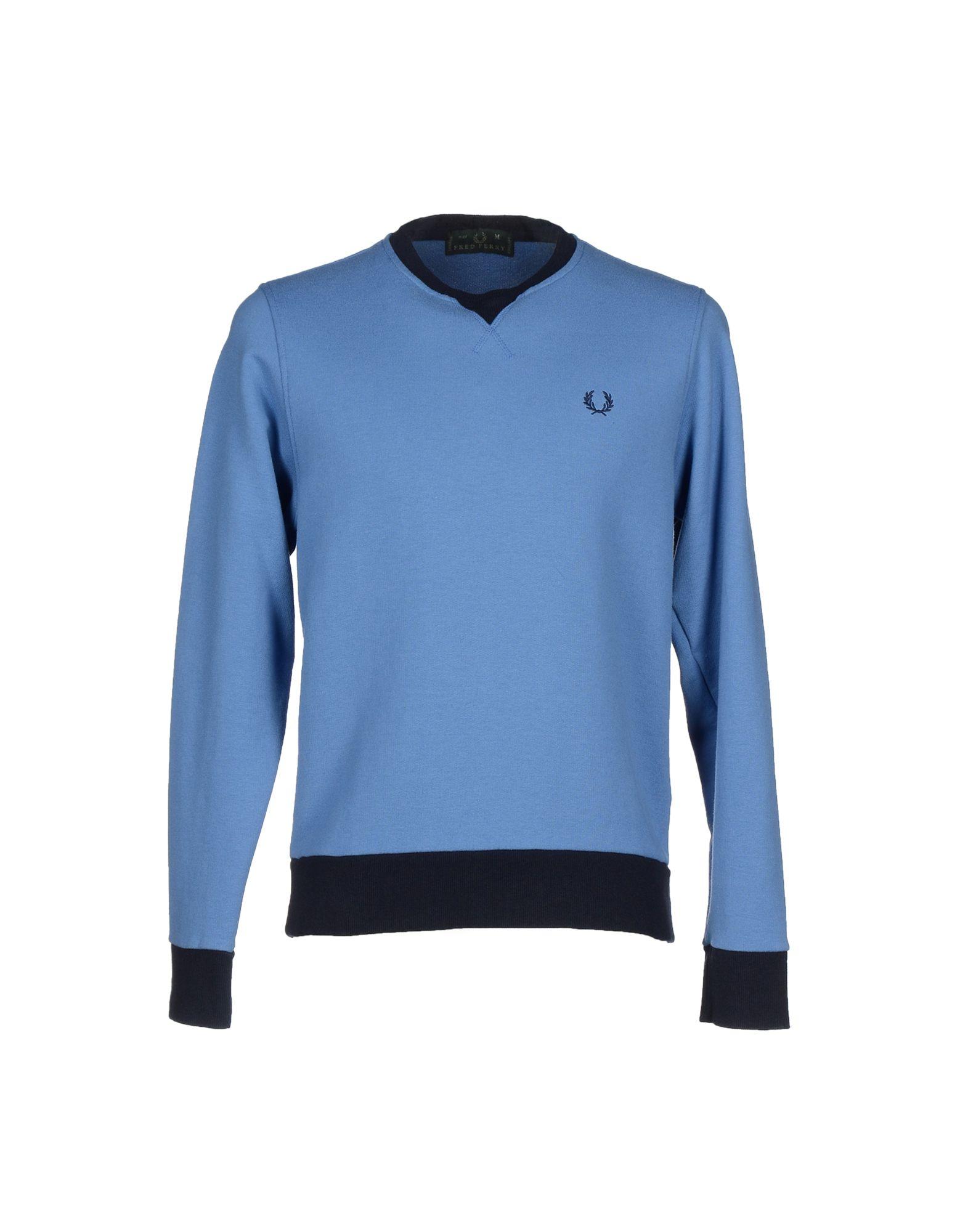 FRED PERRY Herren Sweatshirt Farbe Azurblau Größe 5