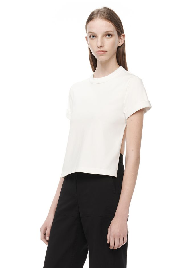 T by ALEXANDER WANG t-by-alexander-wang-sale BACKLESS SHORT SLEEVE TEE