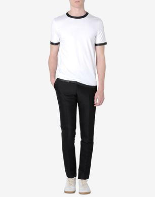 Cotton jersey T-shirt with rubber detail