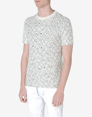 Quilted jersey T-shirt