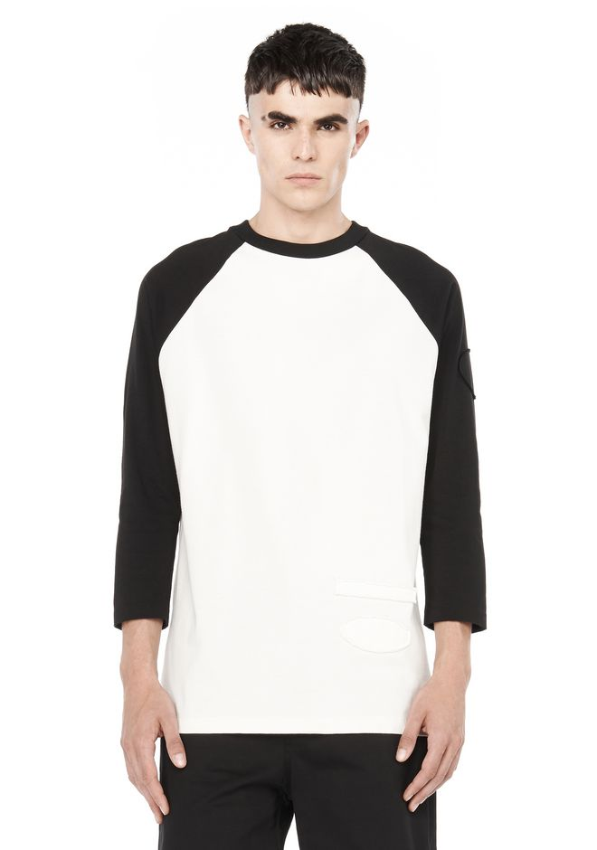 ALEXANDER WANG TEES PATCHED BASEBALL TEE