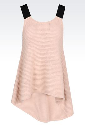 Armani Sleeveless tops Women runway knit top