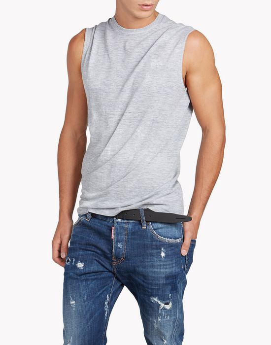 twisted fit tank top tops & tees Man Dsquared2