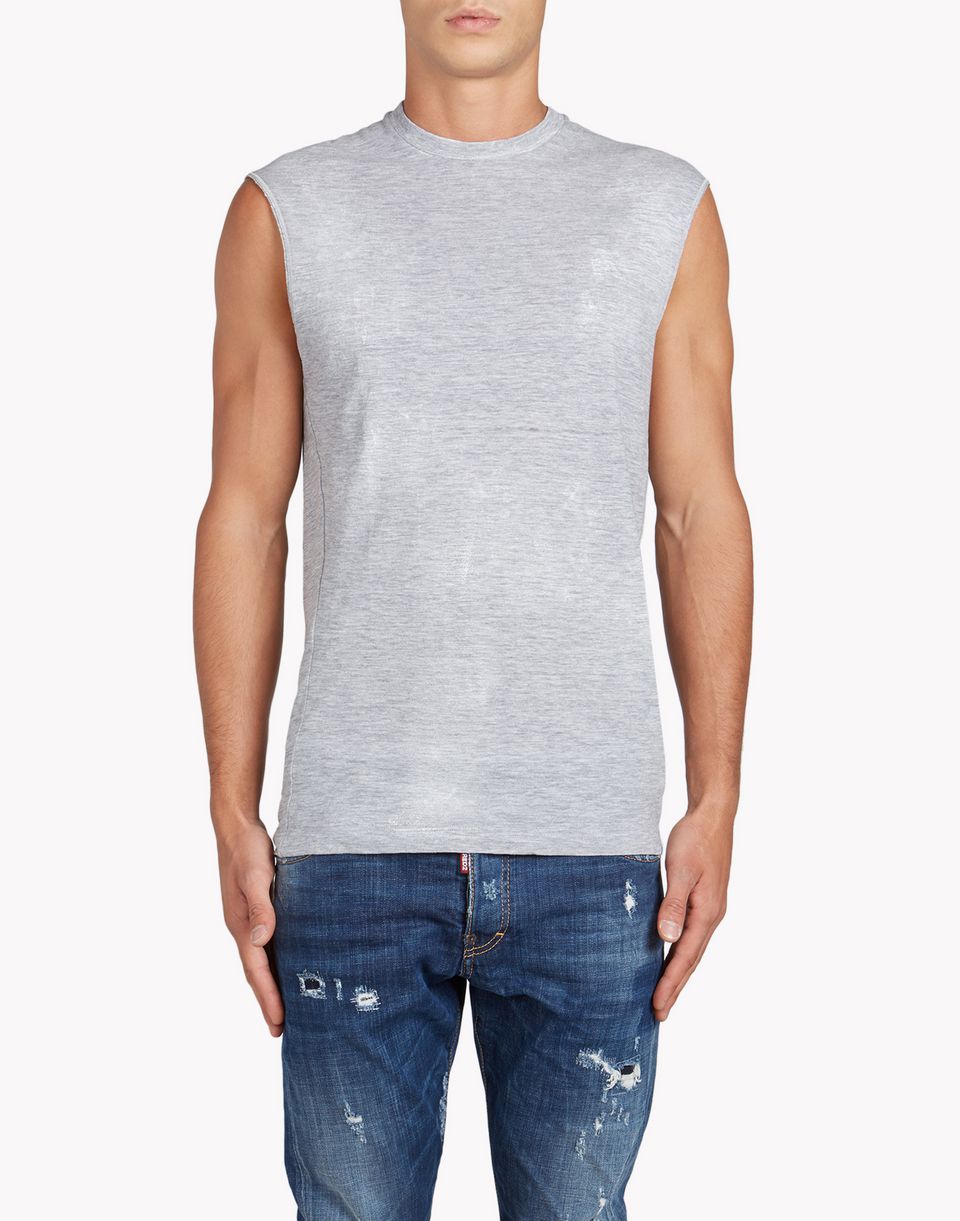 twisted fit tank top top wear Man Dsquared2