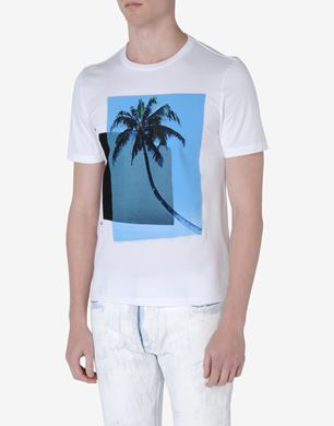 Cotton T-shirt with 'Palm' print