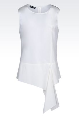 Armani Sleeveless tops Women top in habotai silk
