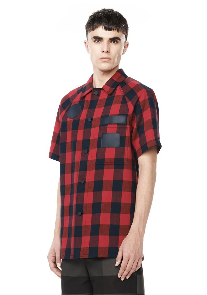 ALEXANDER WANG Shirts RUNWAY BUFFALO CHECK SHIRT JACKET