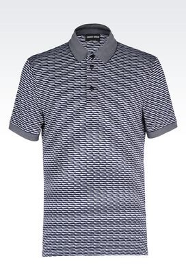 Armani T-shirts Men polo shirt in textured jersey