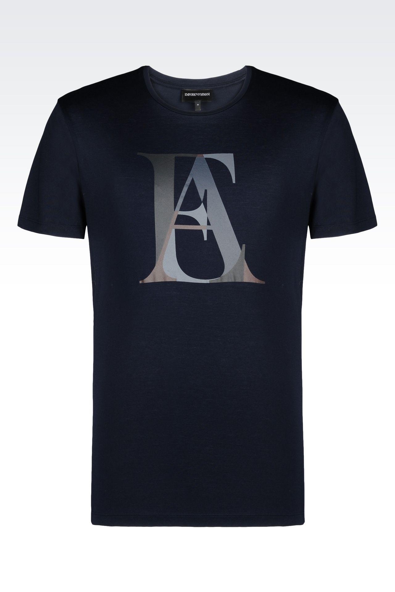jersey t shirt short sleeve t shirts men by armani 0. Black Bedroom Furniture Sets. Home Design Ideas