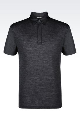 Armani Short-sleeved polo shirts Men polo shirt in jersey and pique
