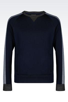 Armani Sweatshirts Men sweatshirt in jersey