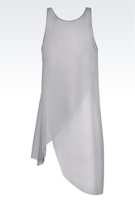 Armani Sleeveless tops Women runway organza top