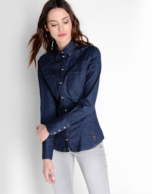 TRUSSARDI JEANS - Denim shirt