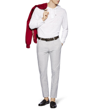 ERMENEGILDO ZEGNA: Long Sleeve T-Shirt White - 37864990ME