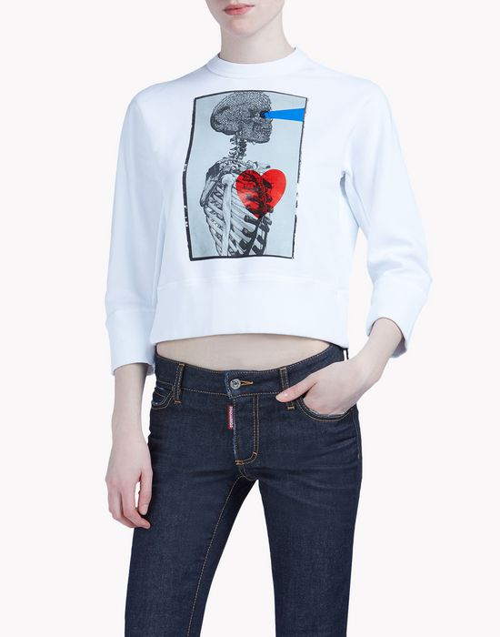 dean fit sweatshirt tops & tees Woman Dsquared2