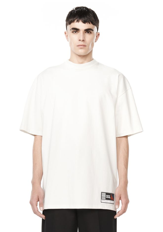 ALEXANDER WANG TOPS OVERSIZED MOCK NECK TEE