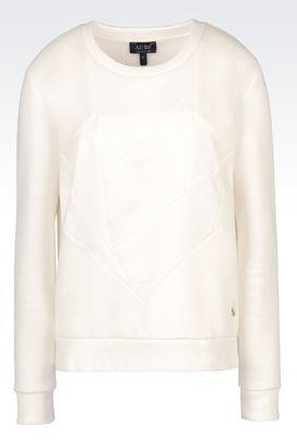 Armani Sweatshirts Women heart print sweatshirt