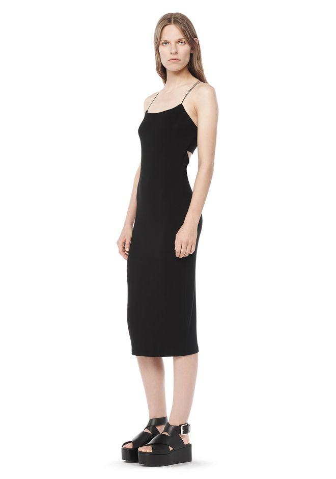 T by ALEXANDER WANG 3/4 Length dresses Women CUT OUT MODAL CAMI DRESS