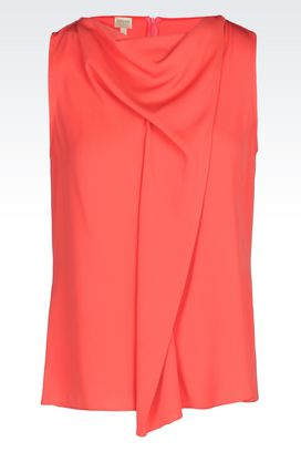Armani Sleeveless tops Women top in silk charmeuse