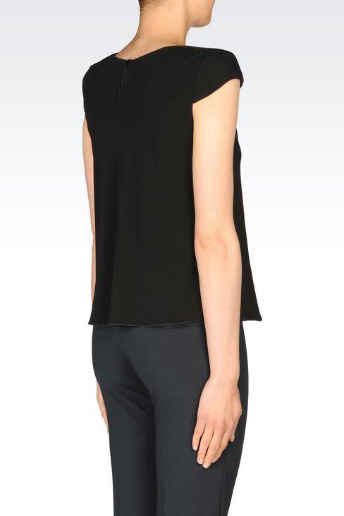 JERSEY T-SHIRT: Print t-shirts Women by Armani - 3